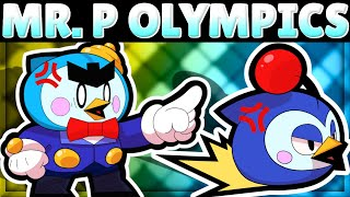 Gambar cover MR. P OLYMPICS! | How Does Mr. P do in 11 Tests?! | New Brawler Mr. P Mechanics!