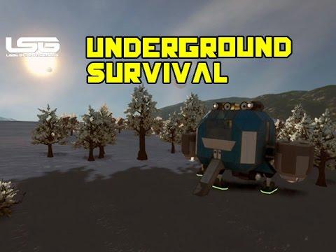 Space Engineers - Underground Survival Avoiding Conflict |