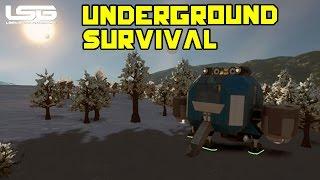 Space Engineers - Underground Survival Avoiding Conflict