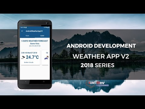 Android Studio Tutorial - Weather App V2 part 3 Forecast 5 days