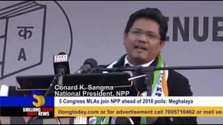 5 Congress MLAs join NPP ahead of 2018 polls Meghalaya