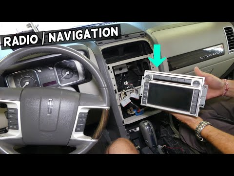 RADIO CD PLAYER NAVIGATION REMOVAL REPLACEMENT LINCOLN MKX