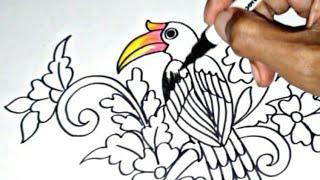Download Mp3 Menggambar Ragam Hias Flora Dan Fauna Burung Rangkong