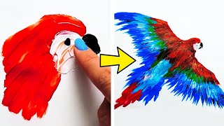 31 AMAZING AND EASY FINGER PAINTING IDEAS FOR BEGINNERS