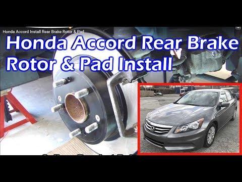 Honda Accord Rear Brake Rotor & Pad Install