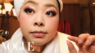 Naomi Watanabe's Guide to Glitter Eyes and Bold Lips | Beauty Secrets | Vogue thumbnail