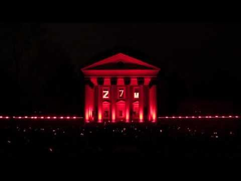 UVa Lighting of the Lawn 2013 Countdown and Light Show