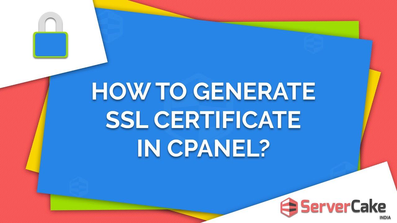 How To Generate Ssl Certificate In Cpanel Servercake India Youtube