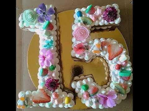 Tortas de letras y números - Number cakes