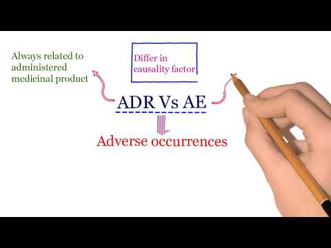 Adverse Drug Reaction (ADR) Vs Adverse Event (AE)