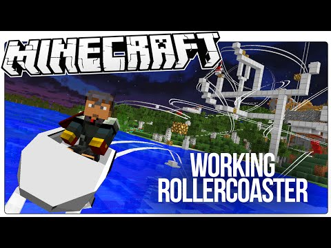 This Working Minecraft Roller Coaster Has Loops, Drops, Corkscrews, More! (Minecraft Custom Mod Map)