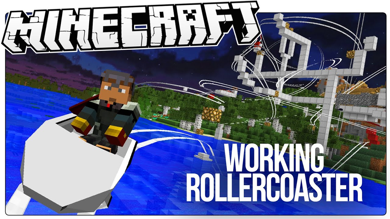 This Working Minecraft Roller Coaster Has Loops Drops Corkscrews