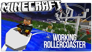 this working minecraft roller coaster has loops drops corkscrews more minecraft custom mod map