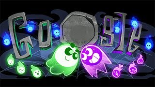 Google Doodle Halloween 2018 Gameplay 🎃 Team Green Vs Team Purple 🎃 Win All Games