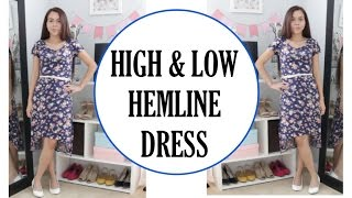 CONVERT A DRESS INTO A HIGH AND LOW HEM DRESS