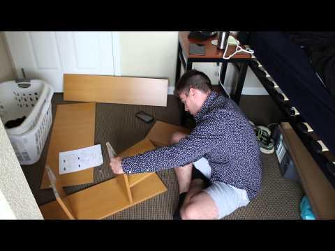Col Cube Dorm Desk Bookshelf