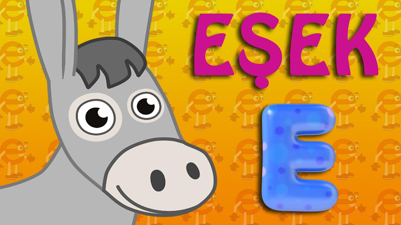 E Harfi - ABC Alfabe SEVİMLİ DOSTLAR Eğitici Çizgi Film Çocuk Şarkıları Videoları