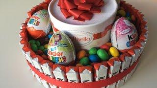 Как сделать торт из киндеров! Готовят дети. Cooking kids.(Попробуйте с нами сделать такой чудесный торт. Это лучший торт без выпечки. Делается он очень быстро, а..., 2015-09-30T08:00:03.000Z)