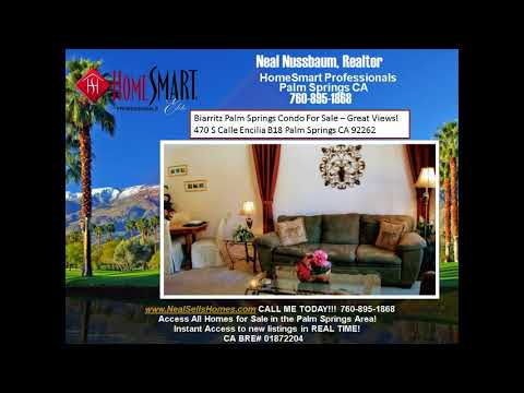 Biarritz Palm Springs Condo For Sale  Walk to Downtown Palm Springs