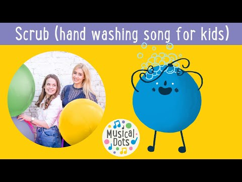 HAND WASHING SONG FOR KIDS | Scrub | Nursery Rhyme Alternative | Musical Dots