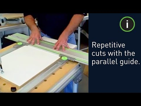 Festool parallel guides - making repetitive cuts with a track saw ...