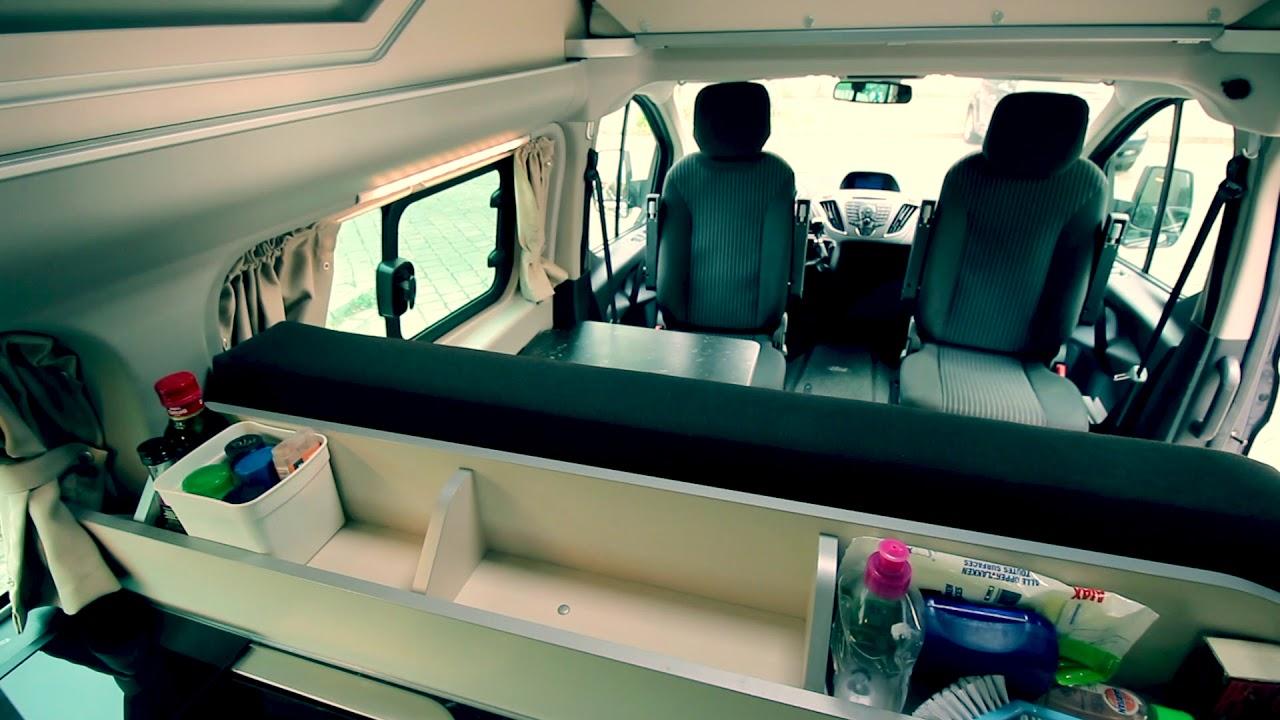 De Ford Westfalia Custom Nugget Van Binnen Youtube