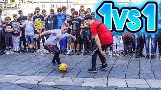 ⚽ 1 vs 1! SE VINCI TI REGALO 5 EURO! (Napoli) 💵