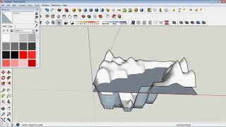 Как создать рельеф SketchUp