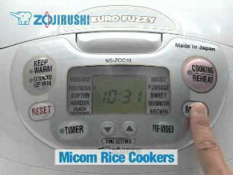 how to use your zojirushi rice cooker part 1 youtube rh youtube com Zojirushi Neuro Fuzzy Rice Cooker Rice Cooker NS-ZCC10