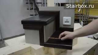 видео Отделка бетонных лестниц деревом в доме: цена, фото облицовки