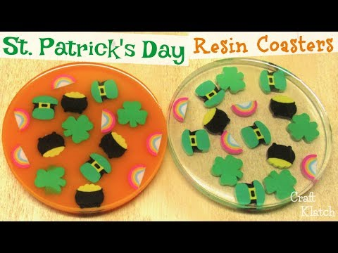 St  Patrick's Day Resin Coasters | Another Coaster Friday | Craft Klatch