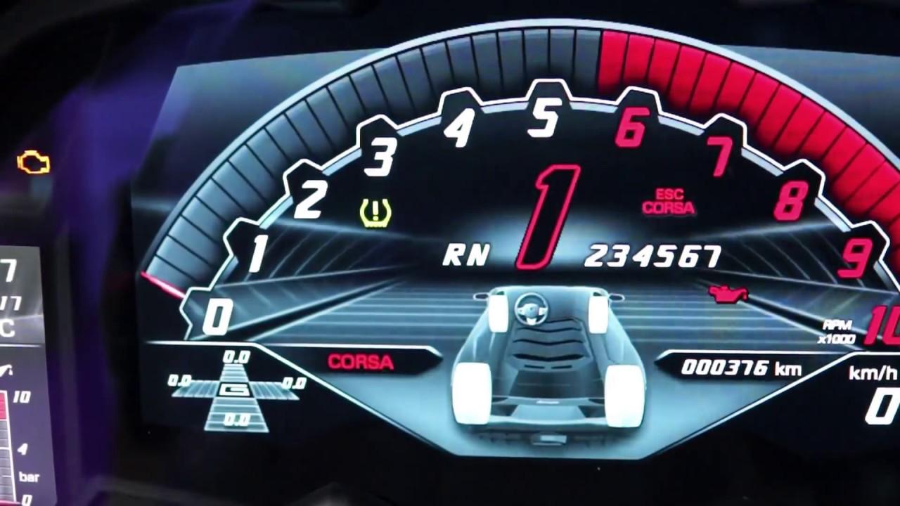 ランボルギーニ・アヴェンタドールsのメーター動作の様子 Lamborghini Aventador S Gauge Cluster Youtube
