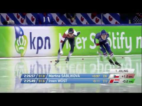 Martina Sáblíková - Ireen Wüst 3000m Heerenveen 2015