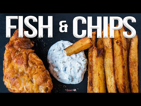 Homemade Fish And Chips Recipe | SAM THE COOKING GUY 4K