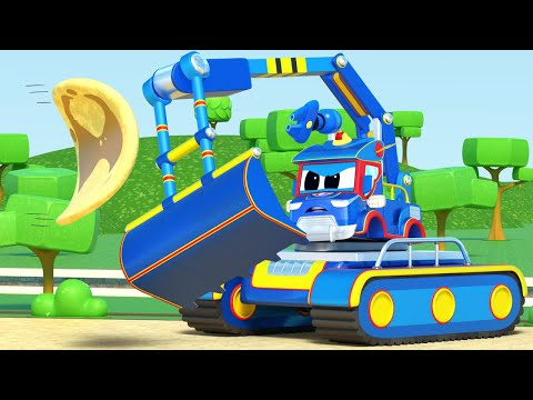 Truck videos for kids - Super EXCAVATOR for Pancake's Day! - Super Truck in car city