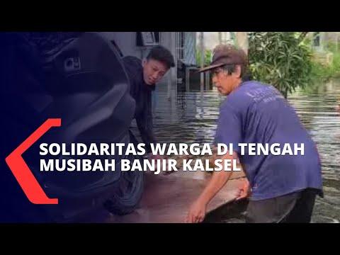 Solidaritas Warga di Tengah Musibah Banjir yang Menerjang Kalimantan Selatan