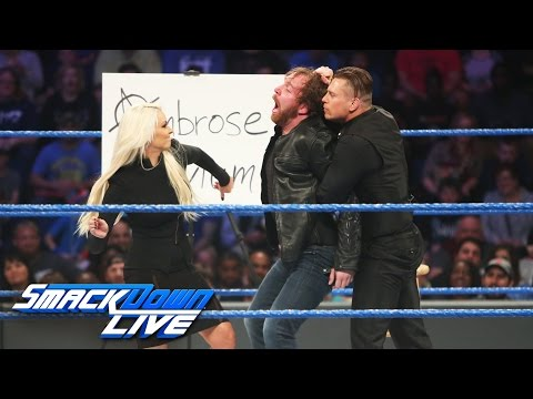 """""""The Ambrose Asylum"""" welcomes special guests The Miz and Maryse: SmackDown LIVE, Jan. 10, 2017"""