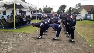 SATPAM GARDA KERTA RAHARJA Peragaan PBB Gada Pratama Angkatan 334 dan 335