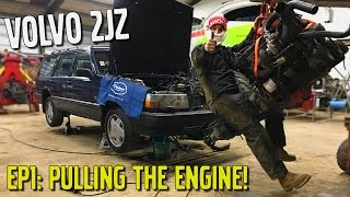 Building The LCM 940 - The 2JZ Volvo [Ep1: Pulling The Engine]