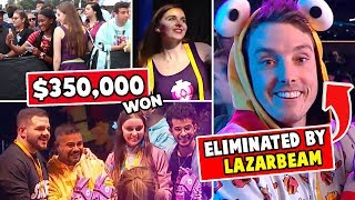 WON $350k at Fortnite event & killed by Lazarbeam...