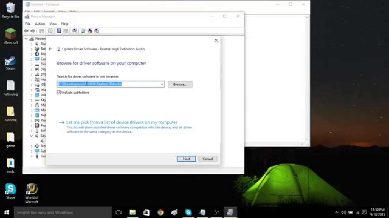 Download audio output device for windows 10