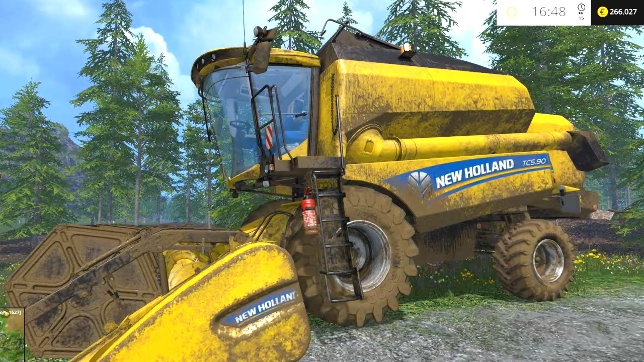 Farming Simulator 15 New Holland Tc5 90 Combine Harvester Test Drive Youtube