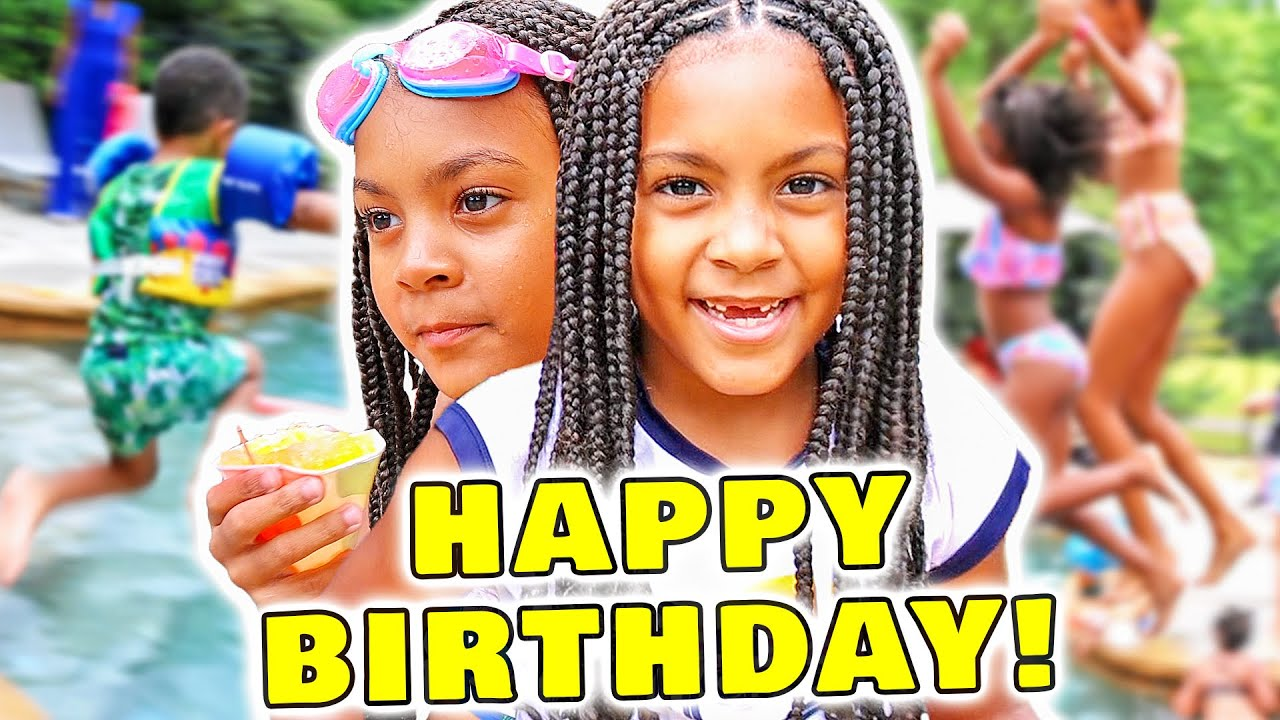 Twins 8th Birthday Pool Party Surprise! Happy Birthday!