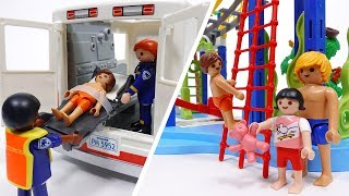 Water Park Accident~! Playmobil Ambulance Is On Its Way thumbnail