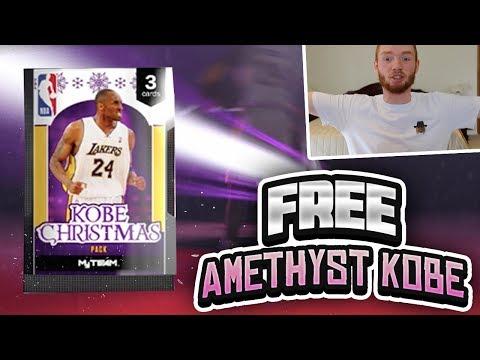 FREE AMETHYST KOBE!? MOMENTS CHALLENGE KOBE CHRISTMAS PACK OPENING! (NBA 2K18 MYTEAM)