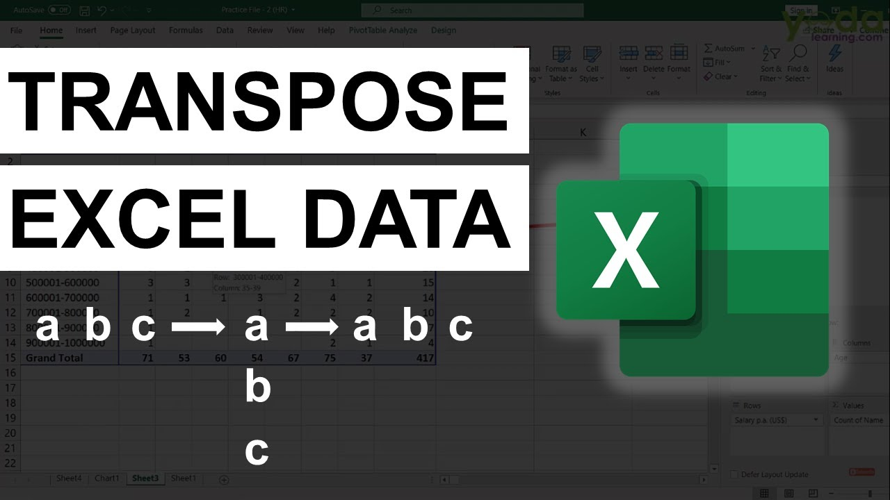 How to Transpose Excel Columns to Rows using Paste Special
