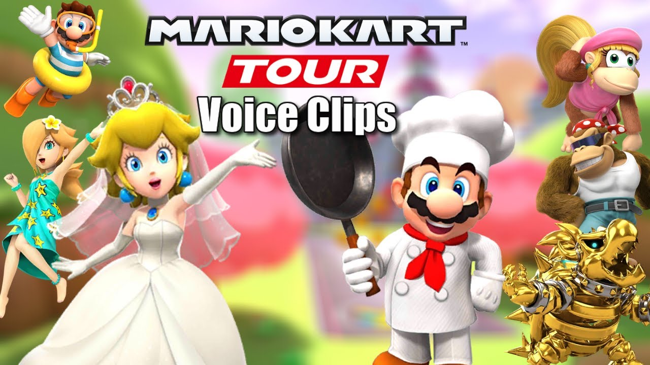 Mario Kart Tour Selectable Character Voice Clips Jungle Tour