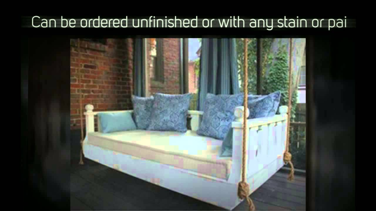 Ridgidbuilt New Orleans Hanging Daybed Swing   YouTube