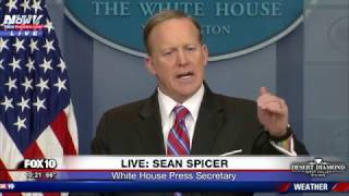 WATCH: Sean Spicer Gets Flustered, Lectures Reporters in Daily Press Briefing (March 28, 2017)