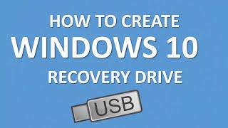 How to Create Windows 10 Recovery Drive USB | Microsoft Windows 10 Tutorial